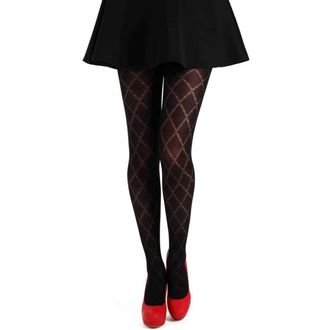 harisnyanadrág PAMELA MANN - Classic Diamond Opaque Tights - Black - 097