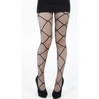 harisnyanadrág PAMELA MANN - Large Diamond Net Tights - Black - 110
