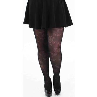 harisnyanadrág PAMELA MANN - Rose Sheer Floral Tights - Black - 078