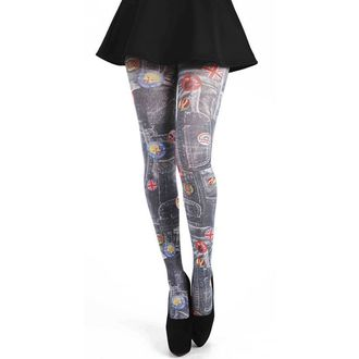 harisnyanadrág PAMELA MANN - Denim Rockabilly Printed Tights - Multi - 095