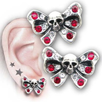 ALCHEMY GOTHIC fülbevaló - Bow Belles - ULFE11