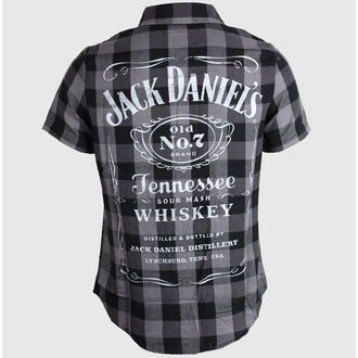 ing férfi Jack Daniels - Checks - Black/Grey - TS633014JDS