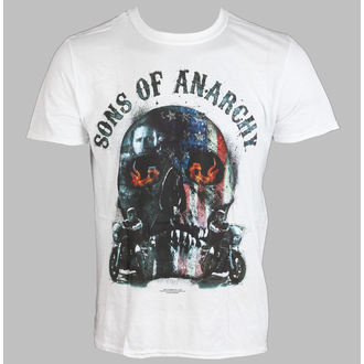 filmes póló férfi Sons Of Anarchy - Biker Skull - LIVE NATION - PE11067TSWP
