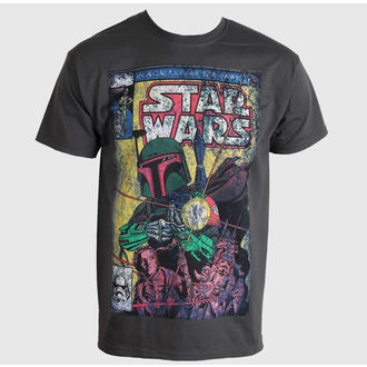 póló férfi STAR WARS - Boba Blast Fotl - Charcoal - LIVE NATION - PE11885