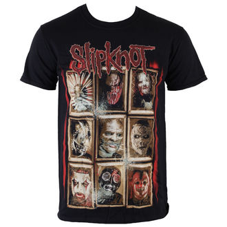 Slipknot férfi póló - New Masks - Black - ROCK OFF - SKTS13MB