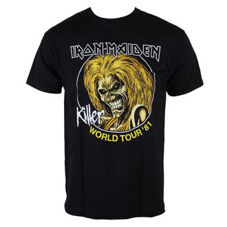 metál póló férfi Iron Maiden - Killers World Tour 81 - ROCK OFF - IMTEE43MB