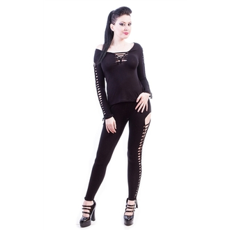 NECESSARY EVIL női cicanadrág (leggings)- Terra Slashed - Black - N1198