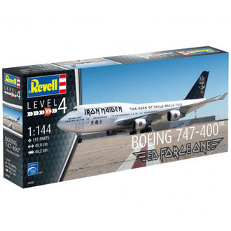 Iron Maiden repülő modell - Model Kit 1/144 Boeing 747-400, Iron Maiden