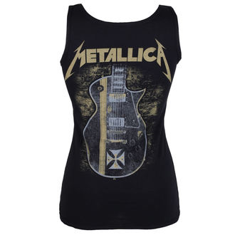 Metallica női top - Hetfield Iron Cross Guitar - Black - ATMOSPHERE - PRO053