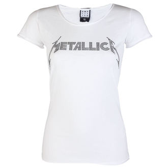 metál póló női Metallica - CLASSIC LOGO WHITE - AMPLIFIED - AV601MLB