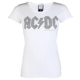 metál póló női AC-DC - LOGO WHITE BLACK - AMPLIFIED - AV601ALB ... ae65698863