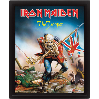 3D-s kép Iron Maiden - The Trooper, PYRAMID POSTERS, Iron Maiden