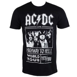 AC / DC  férfi póló - Highway To Hell - World Tour 1979/80 - Black - ROCK OFF - ACDCTTRTW01MB