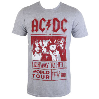 metál póló férfi AC-DC - Highway To Hell World Tour 1979/80 - ROCK OFF - ACDCTTRTW01MG