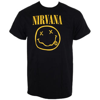 metál póló férfi Nirvana - Smiley Logo - LIVE NATION, LIVE NATION, Nirvana