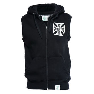 mellény - IRON CROSS SLEEVELESS HOODY - West Coast Choppers, West Coast Choppers