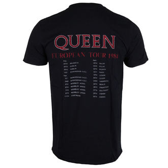metál póló férfi Queen - European Tour 1984 - ROCK OFF, ROCK OFF, Queen