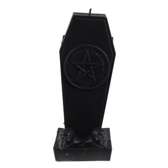 Coffin with Pentagram gyertya - Black Matt