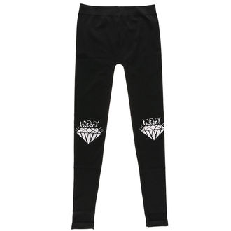 WALLS OF JERICHO női nadrág (leggings)- DIAMONDS - Fekete - RAGEWEAR - 032LGS49