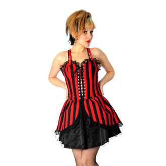 ruha női Black Pistol - Punk Mini Dress Stripe (Black-Red) - B-5-04-319-04