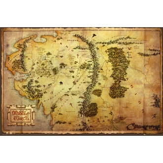 poszter The The Hobbit - Map - GB Posters - FP2804