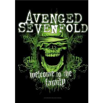 Avenged Sevenfold Zászló - Welcome to the Family, HEART ROCK, Avenged Sevenfold