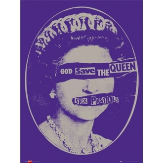 poszter - SEX PISTOLS - Gog Save the Queen - LP1034 - GB posters