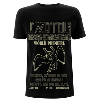 tričko pánské Led Zeppelin - TSRTS World Premiere - Black, NNM, Led Zeppelin