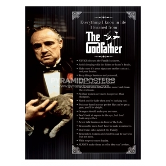 poszter - Godfather (Everything I Know) - PP31625 - Pyramid Posters