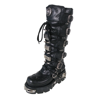 bőr csizma - High Vampire Boot (161-S1) Black - NEW ROCK - M.161-S1