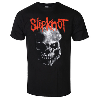 Férfi póló Slipknot - Gray Chapter Skull - Fekte - ROCK OFF, ROCK OFF, Slipknot