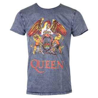 Férfi póló Queen - Classic Crest - FARMER - ROCK OFF, ROCK OFF, Queen