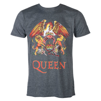 Férfi póló Queen - Classic Crest - HEATHER - ROCK OFF, ROCK OFF, Queen