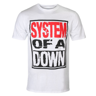 Férfi póló System Of A Down - Triple Stack - WHT - ROCK OFF, ROCK OFF, System of a Down