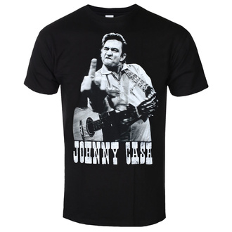 Férfi póló JOHNNY CASH - FINGER SALUTE - FEKETE - GOT TO HAVE IT, GOT TO HAVE IT, Johnny Cash