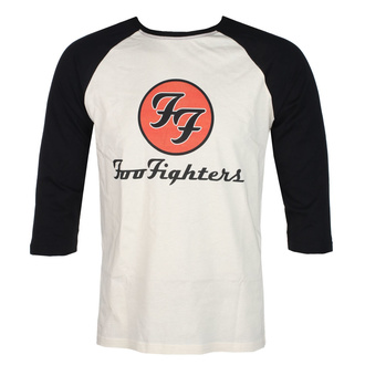 3/4-es ujjú férfi póló FOO FIGHTERS - RED CIRCULAR LOGO - ECRU / FEKETE - GOT TO HAVE IT, GOT TO HAVE IT, Foo Fighters