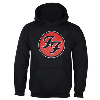 Férfi kapucnis pulóver FOO FIGHTERS - RED CIRCULAR LOGO - FEKETE - GOT TO HAVE IT, GOT TO HAVE IT, Foo Fighters